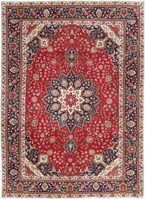Tabriz Patina Vloerkleed 250X344 Echt Oosters Handgeknoopt Donkerrood/Donkerbruin Groot (Wol, Perzië/Iran)