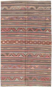 Kelim Turkije Vloerkleed 163X280 Echt Oosters Handgeweven Donkergrijs/Bruin (Wol, Turkije)