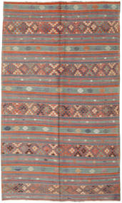 Kelim Turkije Vloerkleed 180X305 Echt Oosters Handgeweven Bruin/Donkerbruin (Wol, Turkije)