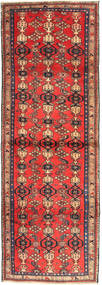 Zanjan Vloerkleed 102X300 Echt Oosters Handgeknoopt Tapijtloper Donkerrood/Donkerbruin (Wol, Perzië/Iran)