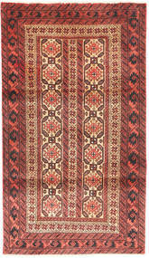 Beluch Vloerkleed 88X158 Echt Oosters Handgeknoopt Donkerrood/Donkerbruin (Wol, Perzië/Iran)