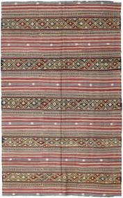 Kelim Turkije Vloerkleed 172X278 Echt Oosters Handgeweven Donkergrijs/Donkerrood (Wol, Turkije)