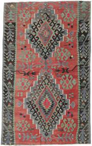 Kelim Turkije Vloerkleed 163X261 Echt Oosters Handgeweven Donkerrood/Lichtgrijs (Wol, Turkije)