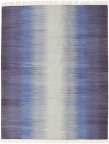 Ikat - Donker Blauw Vloerkleed 190X240 Echt Modern Handgeweven Lichtgrijs/Purper (Wol, India)