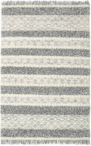 Kelim Berber Ibiza - Zwart En Wit Mix Vloerkleed 200X300 Echt Modern Handgeweven Lichtgrijs/Donkergrijs/Donkerbeige (Wol, India)