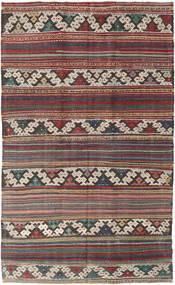 Kelim Turkije Vloerkleed 144X235 Echt Oosters Handgeweven Lichtgrijs/Donkerrood/Donkergrijs (Wol, Turkije)