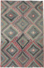Kelim Turkije Vloerkleed 166X252 Echt Oosters Handgeweven Donkergrijs/Donkergroen (Wol, Turkije)