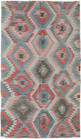 Kelim Turkije Vloerkleed 165X288 Echt Oosters Handgeweven Donkergrijs/Lichtgrijs (Wol, Turkije)