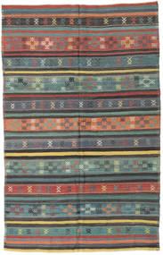Kelim Turkije Vloerkleed 150X236 Echt Oosters Handgeweven Donkergrijs/Lichtgrijs (Wol, Turkije)