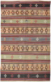 Kelim Turkije Vloerkleed 186X308 Echt Oosters Handgeweven Donkerrood/Donkergrijs (Wol, Turkije)