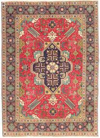Tabriz Patina Vloerkleed 138X190 Echt Oosters Handgeknoopt Lichtbruin/Roestkleur (Wol, Perzië/Iran)
