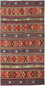 Kelim Turkije Vloerkleed 180X343 Echt Oosters Handgeweven Donkerrood/Donkerblauw (Wol, Turkije)