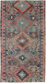 Kelim Turkije Vloerkleed 163X292 Echt Oosters Handgeweven Donkergrijs/Lichtbruin (Wol, Turkije)