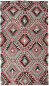 Kelim Turkije Vloerkleed 177X308 Echt Oosters Handgeweven Lichtgrijs/Zwart (Wol, Turkije)
