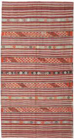 Kelim Turkije Vloerkleed 167X262 Echt Oosters Handgeweven Donkerrood/Lichtbruin (Wol, Turkije)