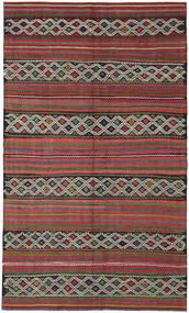 Kelim Turkije Vloerkleed 163X275 Echt Oosters Handgeweven Donkerbruin/Donkerrood (Wol, Turkije)