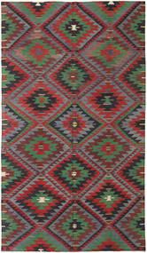 Kelim Turkije Vloerkleed 178X306 Echt Oosters Handgeweven Donkerrood/Donkergrijs (Wol, Turkije)