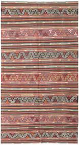 Kelim Turkije Vloerkleed 177X335 Echt Oosters Handgeweven Roestkleur/Lichtgrijs (Wol, Turkije)