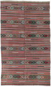Kelim Turkije Vloerkleed 162X283 Echt Oosters Handgeweven Donkerrood/Lichtgrijs (Wol, Turkije)