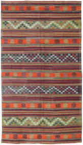 Kelim Turkije Vloerkleed 173X310 Echt Oosters Handgeweven Donkerrood/Donkerpaars (Wol, Turkije)