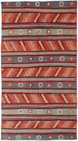 Kelim Turkije Vloerkleed 170X314 Echt Oosters Handgeweven Donkerrood/Zwart (Wol, Turkije)