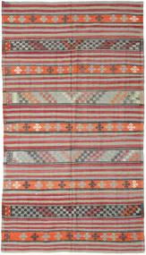 Kelim Turkije Vloerkleed 180X325 Echt Oosters Handgeweven Lichtgrijs/Roestkleur (Wol, Turkije)