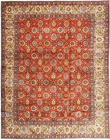 Tabriz Vloerkleed 304X385 Echt Oosters Handgeknoopt Rood/Bruin Groot (Wol, Perzië/Iran)