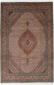 Tabriz 40 Raj Vloerkleed 198X300 Echt Oosters Handgeknoopt Lichtbruin/Bruin (Wol/Zijde, Perzië/Iran)