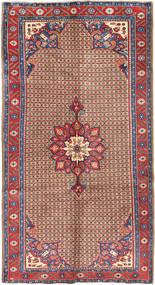 Koliai Vloerkleed 160X300 Echt Oosters Handgeknoopt Tapijtloper Donkerrood/Lichtbruin (Wol, Perzië/Iran)
