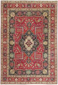 Tabriz Patina Vloerkleed 235X342 Echt Oosters Handgeknoopt Donkerrood/Rood (Wol, Perzië/Iran)