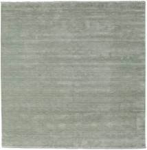 Handloom Fringes - Soft Teal Vloerkleed 250X250 Modern Vierkant Lichtgroen Groot (Wol, India)