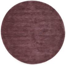 Handloom - Bordeaux Vloerkleed Ø 150 Modern Rond Donkerpaars/Donkerbruin (Wol, India)