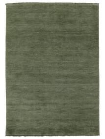 Handloom Fringes - Bosgroen Vloerkleed 160X230 Modern Donkergroen/Donkergroen (Wol, India)