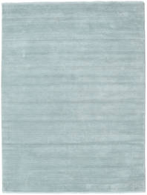Handloom Fringes - Ijsblauw Vloerkleed 160X230 Modern Lichtblauw (Wol, India)