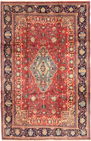 Sarough Vloerkleed 218X336 Echt Oosters Handgeknoopt Donkerrood/Donkergrijs (Wol, Perzië/Iran)