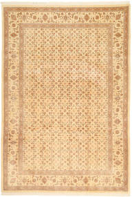 Tabriz 50 Raj Vloerkleed 197X287 Echt Oosters Handgeknoopt Donkerbeige/Beige (Wol, Perzië/Iran)