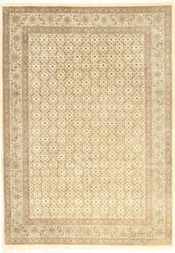 Tabriz 50 Raj Vloerkleed 204X284 Echt Oosters Handgeknoopt Beige/Donkerbeige (Wol, Perzië/Iran)