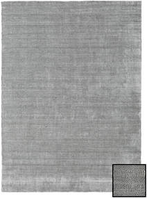 Bamboe Grass - Black_ Grijs Vloerkleed 210X290 Modern Lichtgrijs (Wol/Bamboezijde, Turkije)