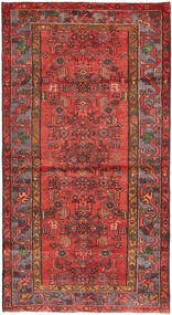 Hamadan Vloerkleed 108X207 Echt Oosters Handgeknoopt Donkerrood/Roestkleur (Wol, Perzië/Iran)
