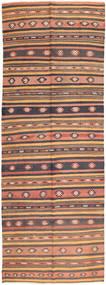 Kelim Fars Vloerkleed 165X438 Echt Oosters Handgeweven Tapijtloper Lichtbruin/Bruin (Wol, Perzië/Iran)