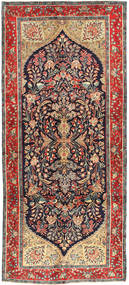 Koliai Vloerkleed 145X330 Echt Oosters Handgeknoopt Tapijtloper Donkerrood/Donkerblauw (Wol, Perzië/Iran)