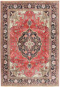 Tabriz Vloerkleed 200X287 Echt Oosters Handgeknoopt Donkerrood/Bruin (Wol, Perzië/Iran)