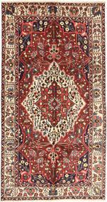 Bakhtiar Vloerkleed 157X296 Echt Oosters Handgeknoopt Tapijtloper Donkerrood/Donkerbruin (Wol, Perzië/Iran)