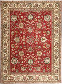Tabriz Patina Vloerkleed 290X390 Echt Oosters Handgeknoopt Bruin/Roestkleur Groot (Wol, Perzië/Iran)