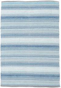 Wilma - Blauw Vloerkleed 120X180 Echt Modern Handgeweven Lichtblauw/Beige (Katoen, India)