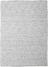 Svea - Zilvergrijs Vloerkleed 250X350 Echt Modern Handgeweven Lichtgrijs/Wit/Creme Groot (Wol, India)