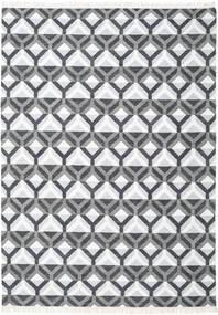 Aino Vloerkleed 240X340 Echt Modern Handgeweven Wit/Creme/Purper (Wol/Bamboezijde, India)