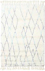 Rana - Natural/Blauw Vloerkleed 160X230 Echt Modern Handgeknoopt Beige/Wit/Creme (Wol, India)