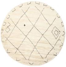 Almaaz - Wit Vloerkleed Ø 250 Echt Modern Handgeknoopt Rond Beige/Wit/Creme Groot (Wol, India)