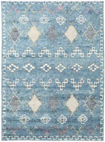 Zaurac - Blauw Grijs Vloerkleed 170X240 Echt Modern Handgeknoopt Lichtblauw/Beige (Wol, India)